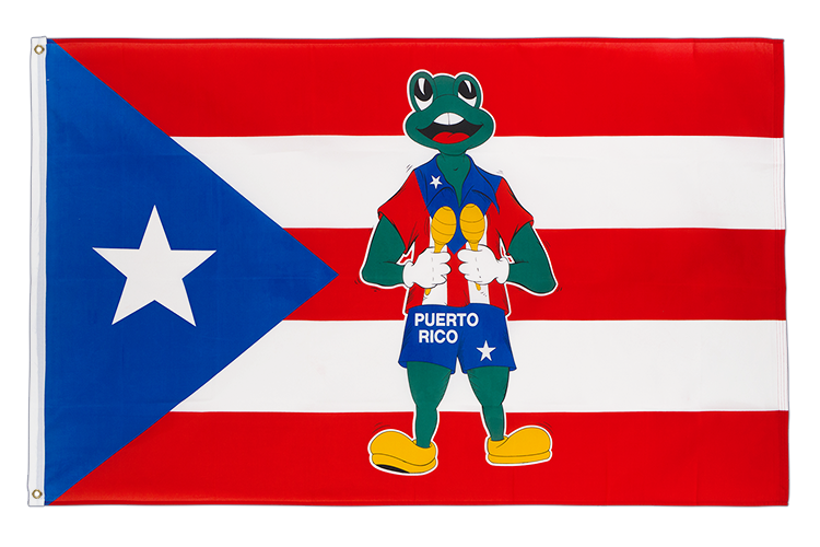 3x5 Puerto Rico Frog Flag