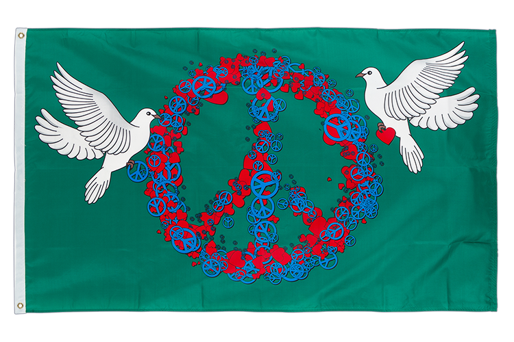 Peace and Love - 3x5 ft Flag