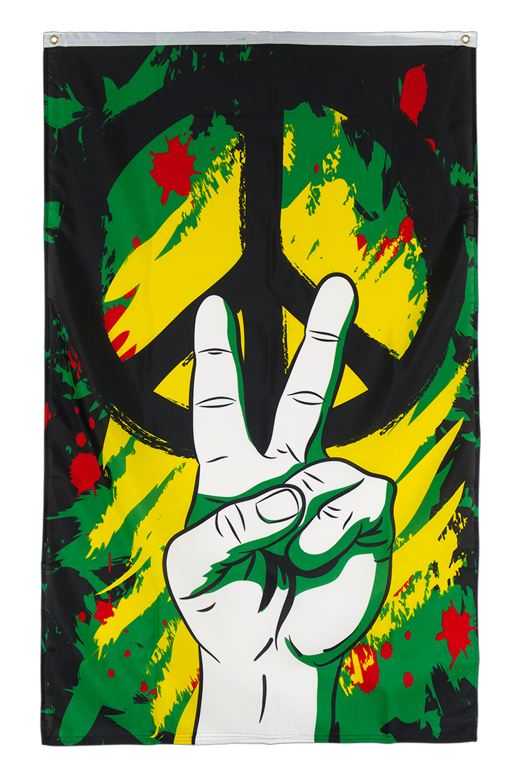 Frieden Peace Graffiti Flagge - 90 x 150 cm