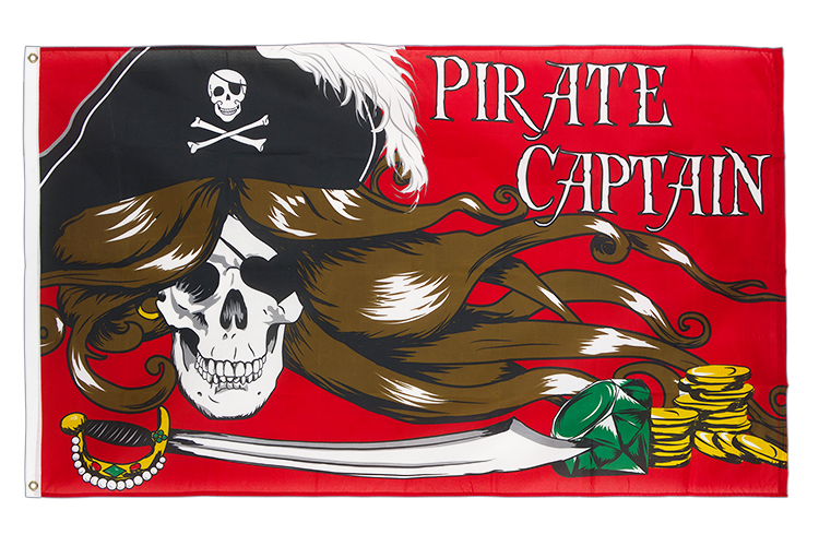 Pirate Female Captain - 3x5 ft Flag