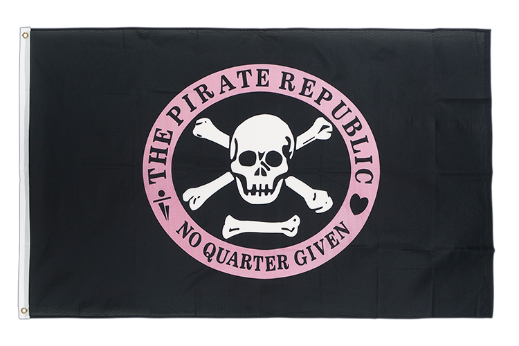 3x5 Pirate Republic pink Flag