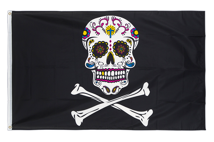 Pirate Sugar Skull - 3x5 ft Flag