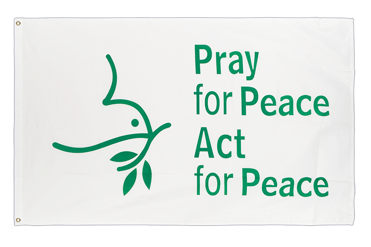 3x5 Pray for Peace Dove Flag