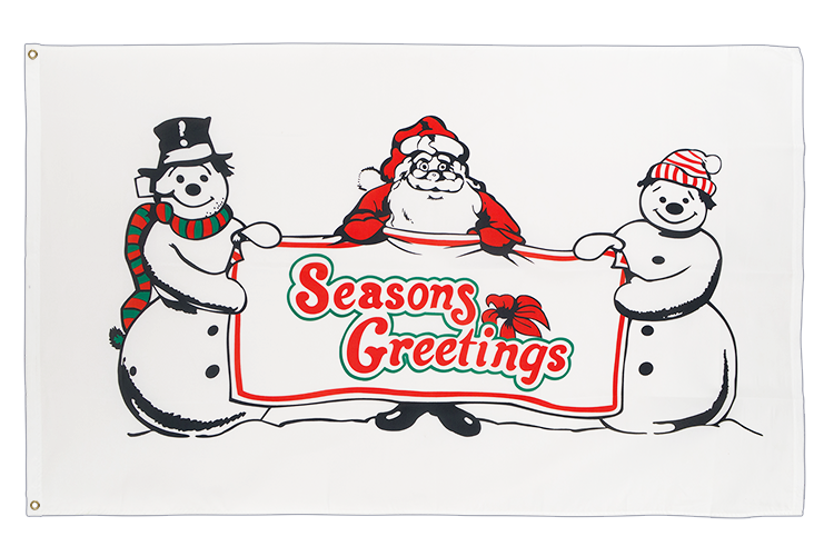 Seasons Greetings Flagge - 90 x 150 cm