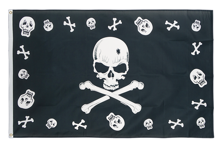 Pirate Bones and skulls - 3x5 ft Flag