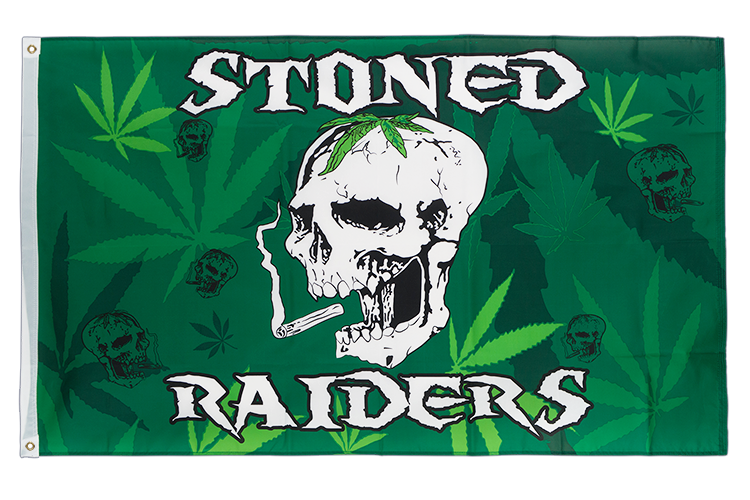 Vente drapeau Stoned Raiders