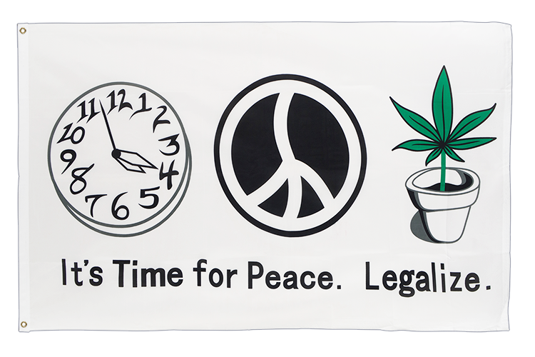 Time for Peace Flagge 90 x 150 cm