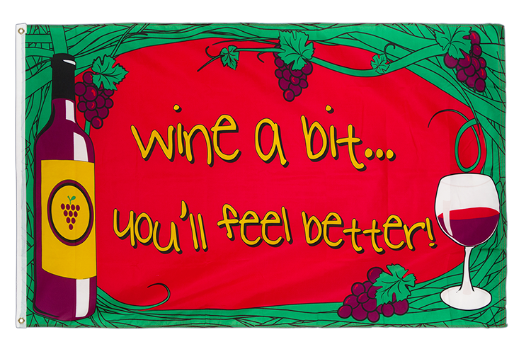 Wine a bit - 3x5 ft Flag