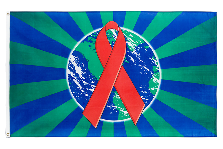 World Aids Awareness Flagge - 90 x 150 cm
