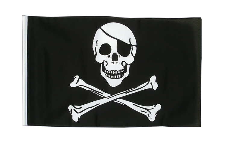 Pirat Skull and Bones - Flagge 30 x 45 cm, klein