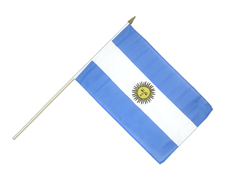 Argentinien Stockflagge 30 x 45 cm