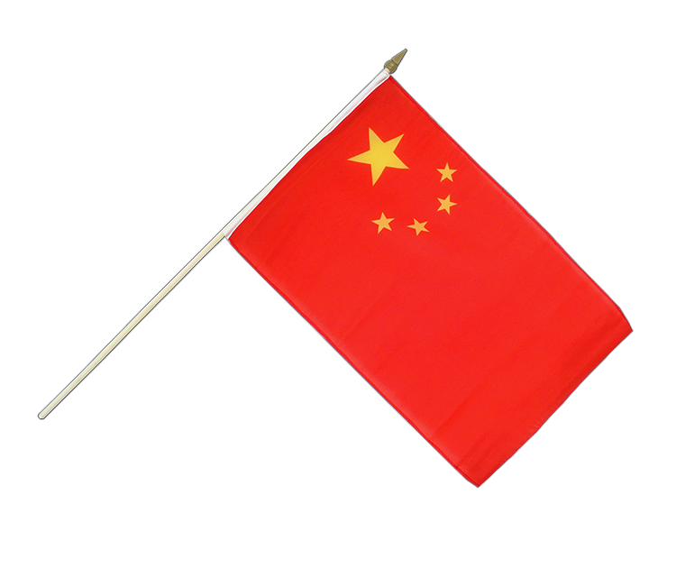 Stockflagge China - 30 x 45 cm