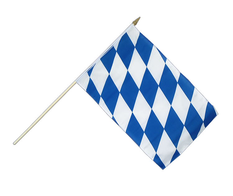 "Hand Waving Flag Bavaria without crest - 12x18"" (30 x 45 cm)"