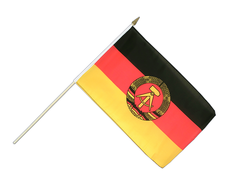 DDR - Stockflagge 30 x 45 cm