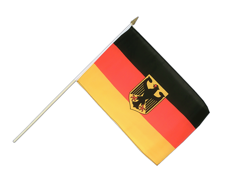 "Hand Waving Flag Germany Dienstflagge - 12x18"" (30 x 45 cm)"