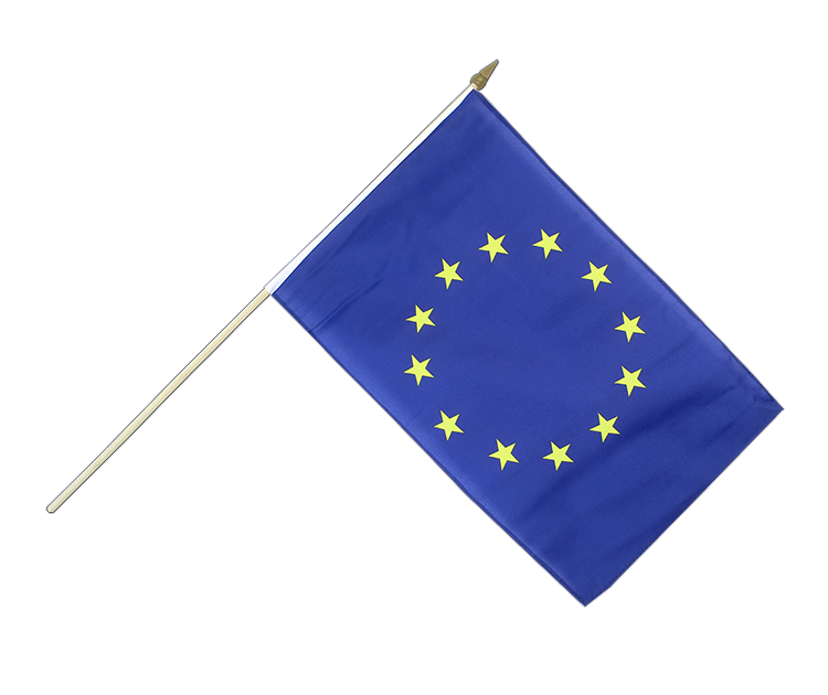 "Hand Waving Flag European Union EU - 12x18"" (30 x 45 cm)"