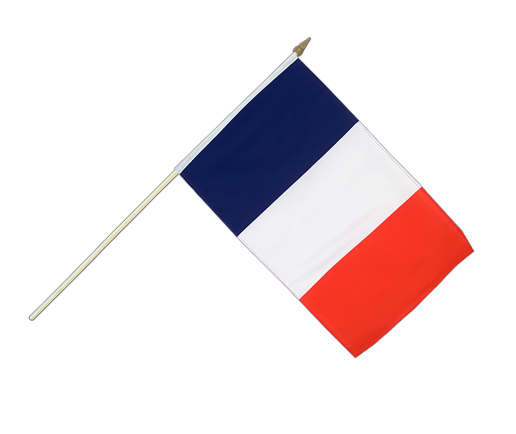 "Hand Waving Flag France - 12x18"" (30 x 45 cm)"