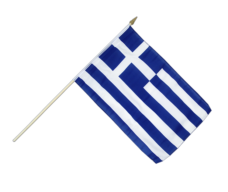 "Hand Waving Flag Greece - 12x18"" (30 x 45 cm)"