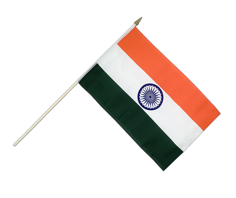 "Hand Waving Flag India - 12x18"" (30 x 45 cm)"