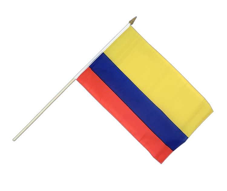 "Hand Waving Flag Colombia - 12x18"" (30 x 45 cm)"