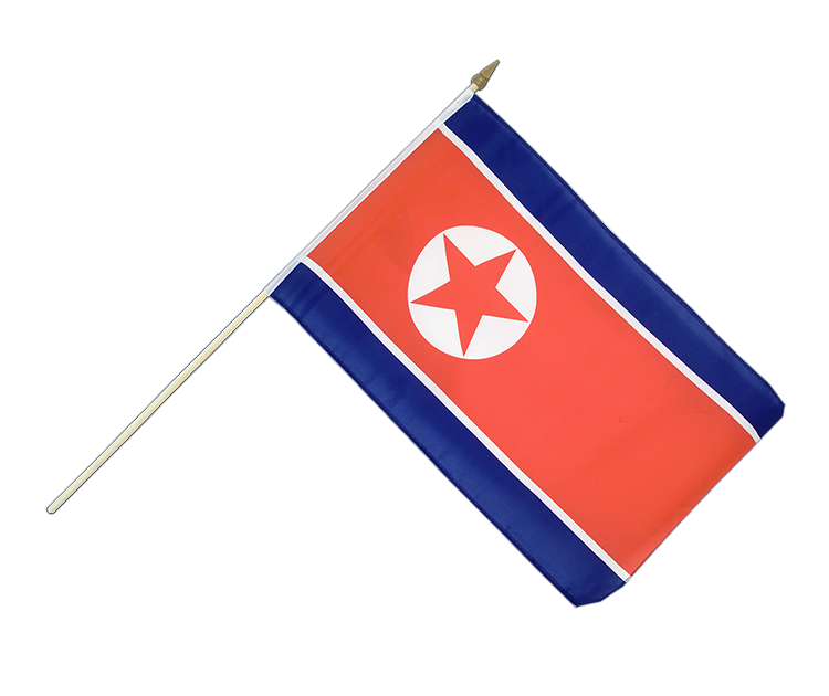 "Hand Waving Flag North corea - 12x18"" (30 x 45 cm)"