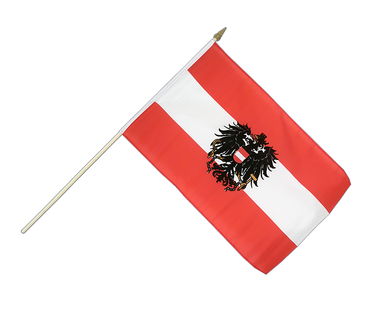 "Hand Waving Flag Austria eagle - 12x18"" (30 x 45 cm)"