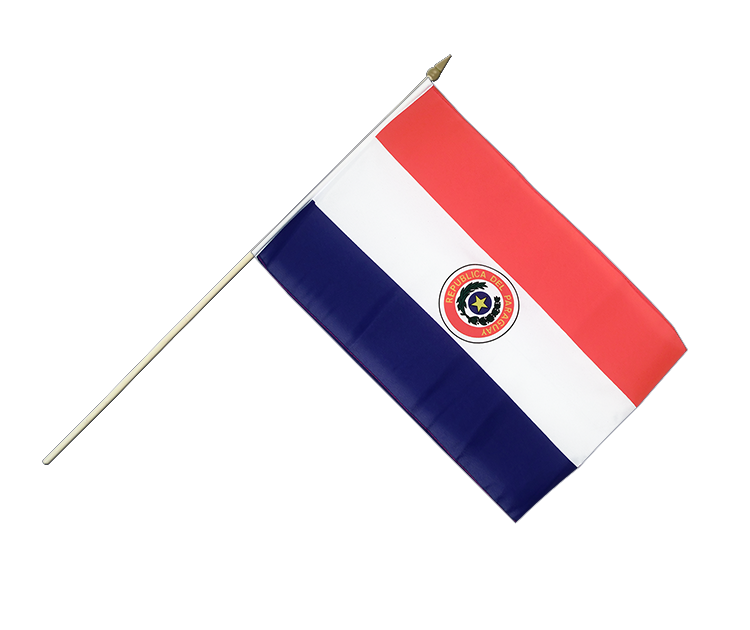 Paraguay - Stockflagge 30 x 45 cm