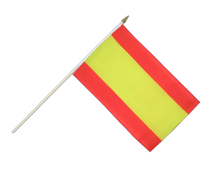 Spanien ohne Wappen - Stockflagge 30 x 45 cm