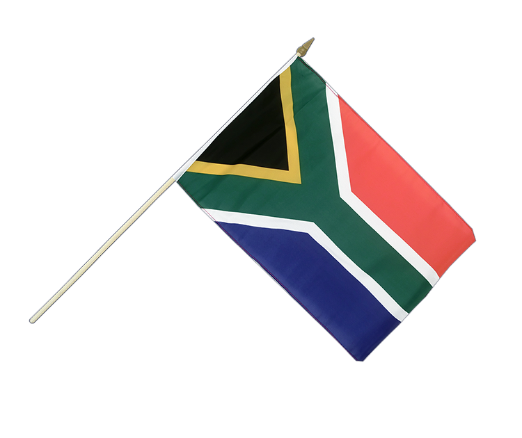"Hand Waving Flag South Africa - 12x18"" (30 x 45 cm)"