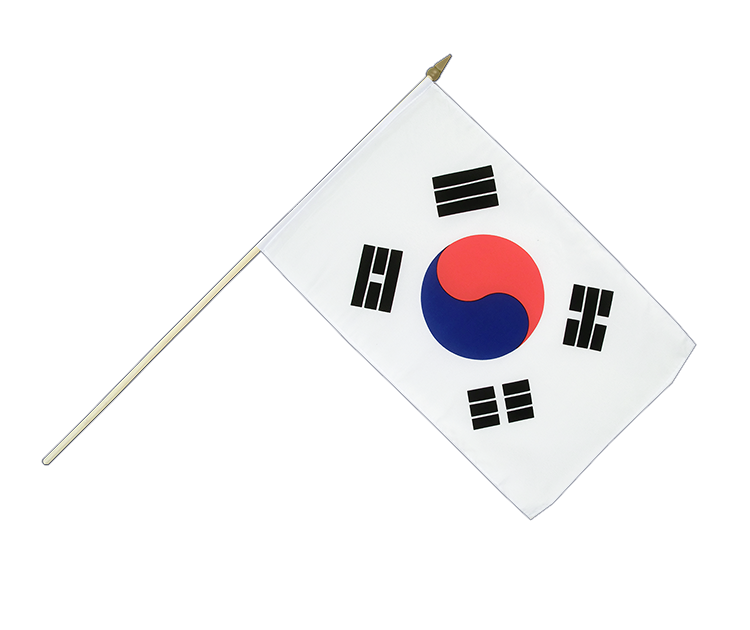"Hand Waving Flag South Korea - 12x18"" (30 x 45 cm)"