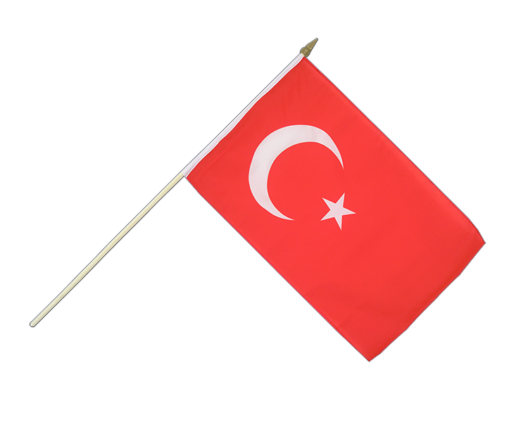 "Hand Waving Flag Turkey - 12x18"" (30 x 45 cm)"