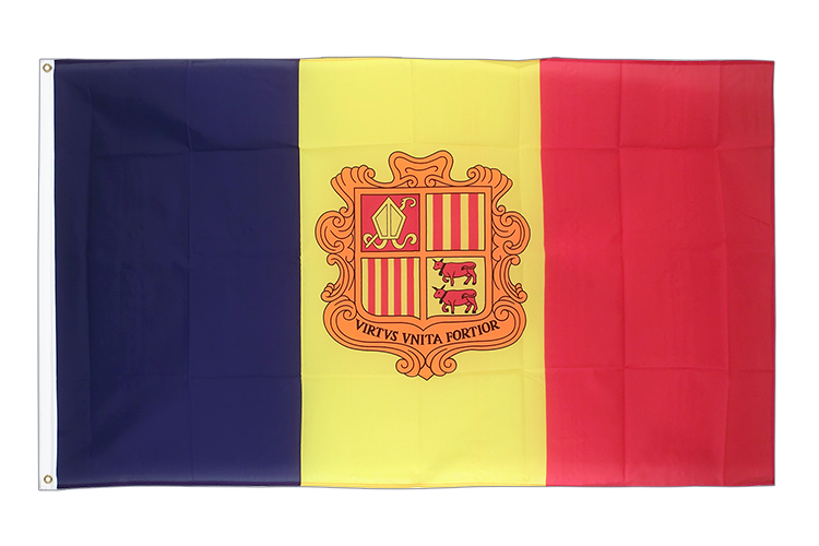 Andorra - 3x5 ft Flag