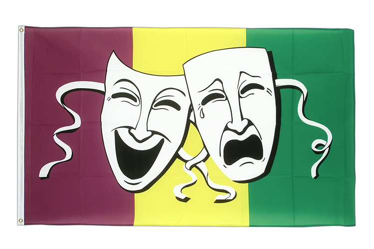 Comedy & Tragedy - Flagge 90 x 150 cm