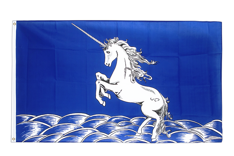Unicorn blue - 3x5 ft Flag