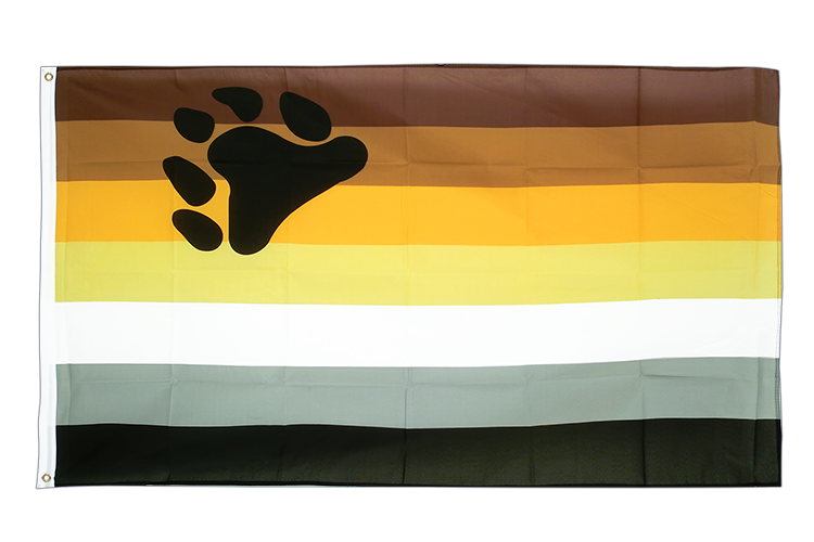 3x5 Gay Pride Bear Flag