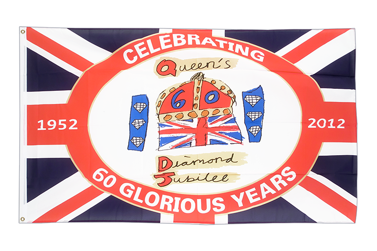 Vente drapeau White Diamond Jubilee of Queen Elizabeth II