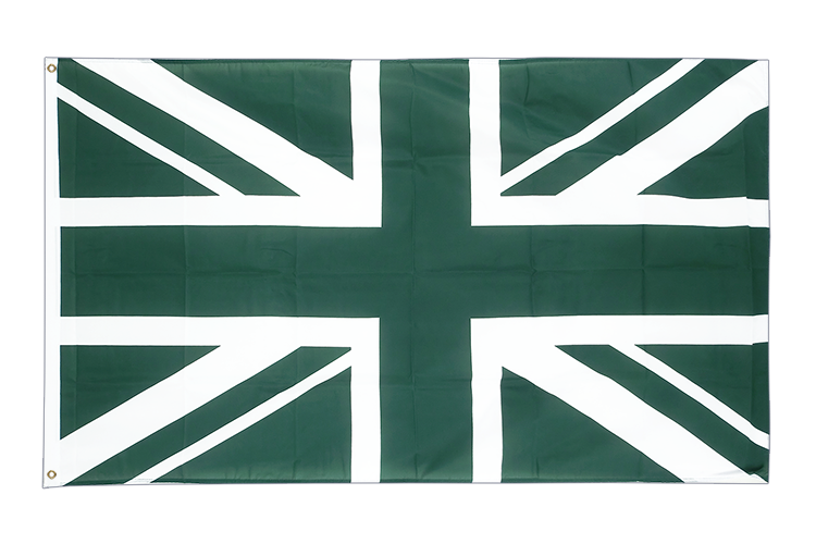 Union Jack green - 3x5 ft Flag