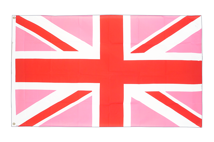 Vente drapeau Union Jack rose