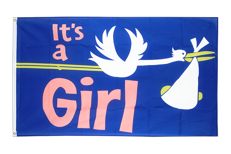It's a girl - Flagge 90 x 150 cm