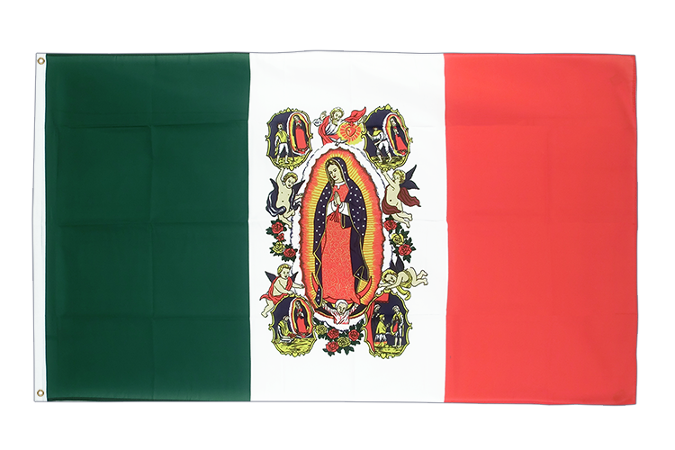 3x5 Mexico with Lady of Guadalupe Flag
