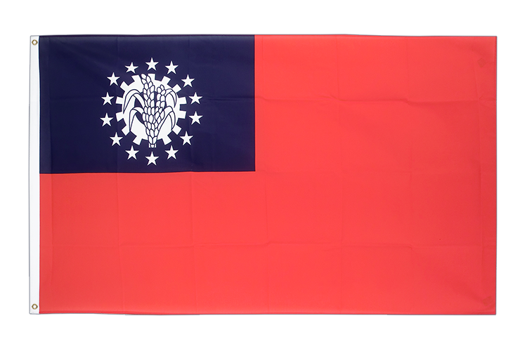 Myanmar 1974-2010 - 3x5 ft Flag
