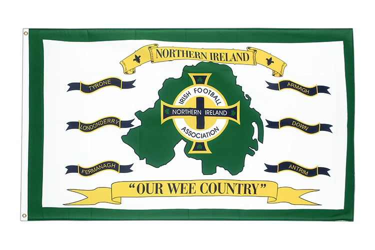 3x5 Northern Ireland Football white Flag