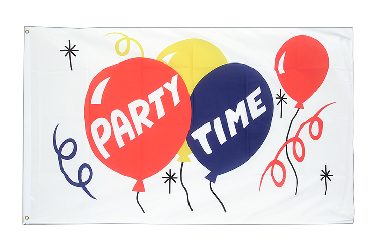 Party Time Flagge - 90 x 150 cm