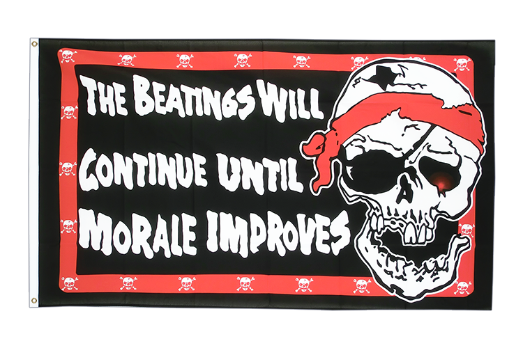 Pirat Beatings will continue - Flagge 90 x 150 cm kaufen