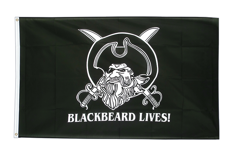 Drapeau Pirate Blackbeard lives 90 x 150 cm
