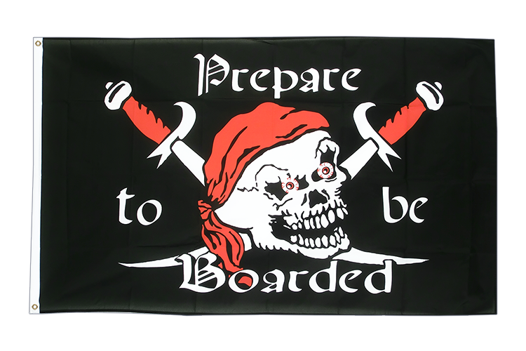 Pirat Prepare to be Boarded - Flagge 90 x 150 cm kaufen