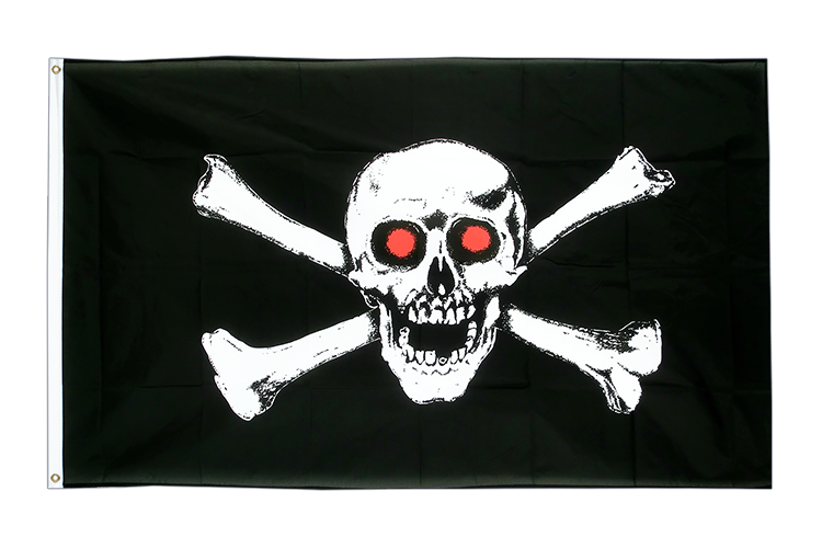 Pirate with red eyes - 3x5 ft Flag