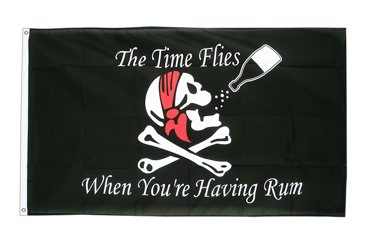 Pirat The Time Flies When You are Having Rum - Flagge 90 x 150 cm kaufen