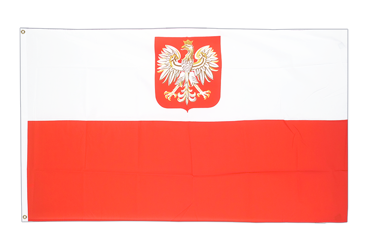 Poland with eagle - 3x5 ft Flag