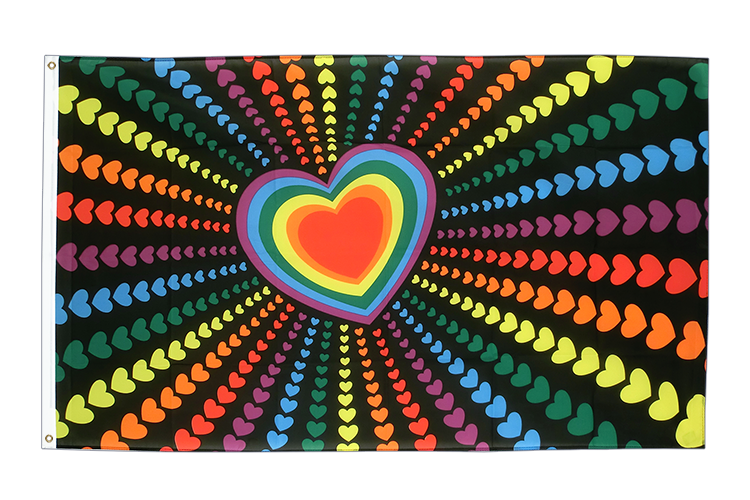 Rainbow Love - 3x5 ft Flag